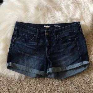 Mossimo dark denim shorts. Size 10.